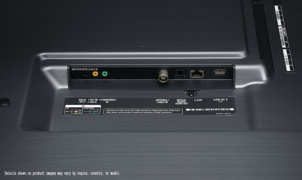 Seitenanschluss vom 86 Zoll Display